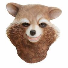 Realistic Raccoon Latex Head Mask female Rubber Animal Halloween Novelty Costume