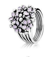 Women Fashion Jewelry 925 Silver Flower Wedding Engagement Ring Size 6-10