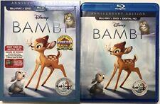 DISNEY BAMBI ANNIVERSARY EDITION(BLU-RAY+DVD+DIGITAL HD) W/SLEEVE FREE SHIPPING