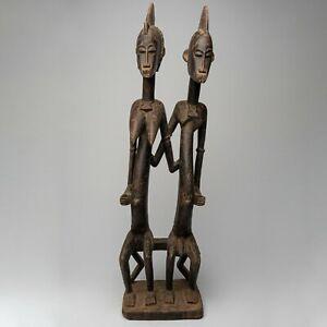 A015 - STATUE SENOUFO ANCIENNE, CIRCA 1905, ART TRIBAL PREMIER AFRICAIN