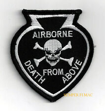 DEATH FROM ABOVE AIRBORNE SPADE HAT PATCH US ARMY AIR FORCE NAVY MARINES SKULL