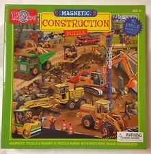 Magnetic Puzzle 51 Pieces Construction Trucks Matching Board Toy TS Shure Age 3
