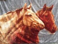 Tagesdecke Kuscheldecke Decke Plaid Pferd / Pferde NEU 160x200cm