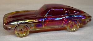 "Boyd Art Glass "" SportsCar "" Corvette In Cherry Red Carnival #19 Made 8-24-2001"