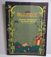 Millipede Atari Arcade MANUAL Original Video Game Service Repair Info 1982