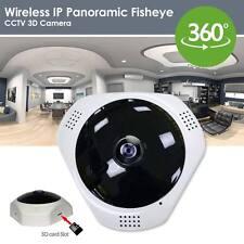 Visión Nocturna 360 GRADOS ojo de pez 3D P2P WIFI Cámara IP Cámara De Red De Seguridad Cctv