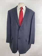 Joseph & Feiss Men's Blue Textured Wool Blazer 48R $495