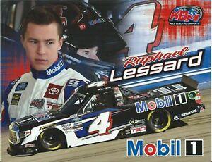 "2020 RAPHAEL LESSARD ""MOBIL 1 KBM"" #4 NASCAR TRUCK SERIES POSTCARD"