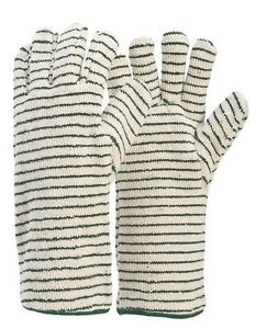 Industrial Oven Gloves, Spark Resistant Terry Cord, Size XL x 1 pair