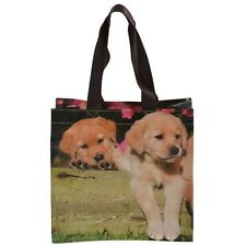 PUPPIES shopping bag small reuseable tote shopper durable showerproof puppy dog