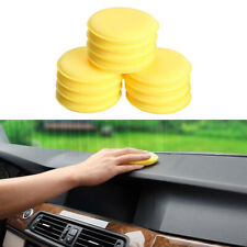12pcs Cars Vehicle Yellow Waxing Polish Wax Foam Sponge Applicator Pads Cleaner