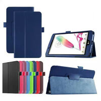 Ultra Slim PU Leather Flip Folio Book Case Cover Pouch Skin Stand for LG Tablet