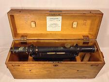 Vintage Young & Sons Keuffel & Esser (KE) Surveyor Transit and Wood Case