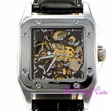 Mechanical (Automatic) Brushed Square Wristwatches