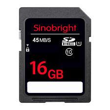 16GB Ultra SD carte sinobright Classe 10 15MB/S Lot de 100 mémoire pour Camare