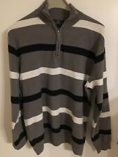 Grey Connection Herren Pullover Troyer Gr. 52 54 L  grau BW/ Acryl getragen