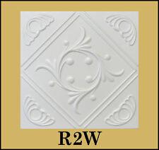 Glue Up White Decorative Ceiling Tiles R2W Antique White Satin 8pcs Lot!