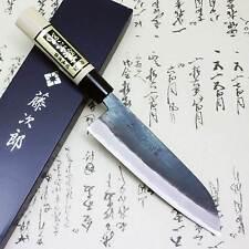 Tojiro Japanese Chef Knife  White Steel Shirogami Black Finished Santoku F/S