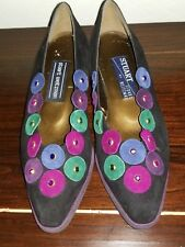 Stuart Weitzman Suede and Colored Circles With Stones    Flats Size 6M