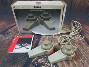 Vintage Original Apple Handcontrollers for Apple IIe  IIc A2M2001 Original Box!