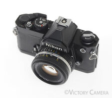 Nikon FM Black Camera (Early Version) w/ 50mm Series E Lens -CLA'd-
