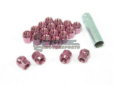 NNR Type M Steel Wheel Lug Nuts & Locks Open Ended Pink 22mm 12x1.5 20pcs