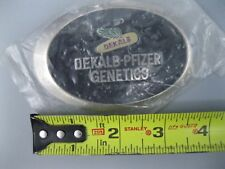Vintage Dekalb Dekalb-Pfizer Genetics Belt Buckle
