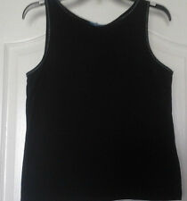 BLACK LADIES TANK TOP/SHIRT SIZE M BY CASUAL CORNER ANNEX SPORT
