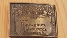 New Vintage Budweiser Beer Belt Buckle