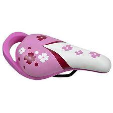Sillin Infantil de Niño Niña Color Rosa Blanco Asa Posterior para Bicicleta 3816