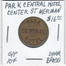 Token - Park Central Hotel - Center Street Meridan - G/F 10 Cents - 24 MM Brass