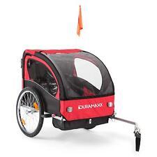 CHILD KIDS BIKE TRAILER JOGGER SUSPENSION STROLLER DOUBLE SEAT VELCRO STRAP FLAG