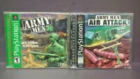Army Men 3D + Air Attack -  Playstation 1 2 PS1 PS2 Game Lot Complete Tested