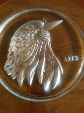 Lalique Crystal Eagle Plate - Signed - 1973