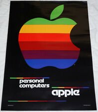 """APPLE PERSONAL COMPUTERS mint poster approx 33""""/24"""" rolled shipping Steve Jobs"""