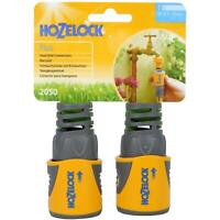 Hozelock Hose End Connector Plus Tap/Pipe Soft Touch Pads Flexible Tail - 2 Pack