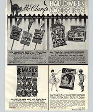 1964 PAPER AD 8 PG Ben Cooper Halloween Costumes Masks Gremlin Monster Cartoons