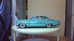 VINTAGE 1963 PLYMOUTH VALIANT BY BANDAI OF JAPAN TIN FRICTION complete used