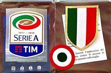 2017-18 JUVENTUS Serie A & Scudetto & Coppa Italia STILSCREEN Badge Patch Set