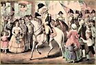 Currier & Ives : Washington's Entry into New York  Art Print