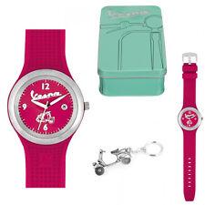 Coffret Cadeau Montre rouge Vespa Femme et porte-clés
