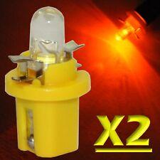 2 Pezzi LED T5 B8.5D GIALLO Lampade Lampadine Per Cruscotto e Quadro Strumenti
