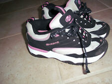 Heelys Girls / Kids Shoes Glitzy Black / White / Pink Sz 4 Youth