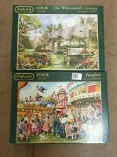 FALCON DELUXE JIGSAW PUZZLE JOBLOT X 2 USED GOOD CONDITION (U2)
