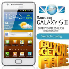 100% GENUINE TEMPERED GLASS SCREEN PROTECTOR FOR SAMSUNG GALAXY S2 S II I9100
