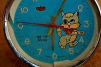 New Old Stoke Hero Alarm Clock, Wind-Up Cat Alarm Clock, Eyes Cat Is Moving #146