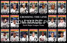1st Negro Player Each MLB Team Baseball Card Poster Black Baseball History Decor