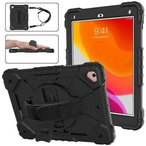 """Shockproof Rubber Kids Strap Case Cover For iPad 5th 6th 7th 8th Gen 9.7"""" 10.2"""""""