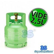 3S BOUTEILLE VIDE 2,5 L pour Récupération gaz Réfrigérant R410A R134A avec vanne