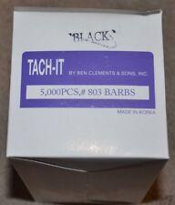 Tach-it tach it 803 barbs 5000 pieces standard tagging fastener black